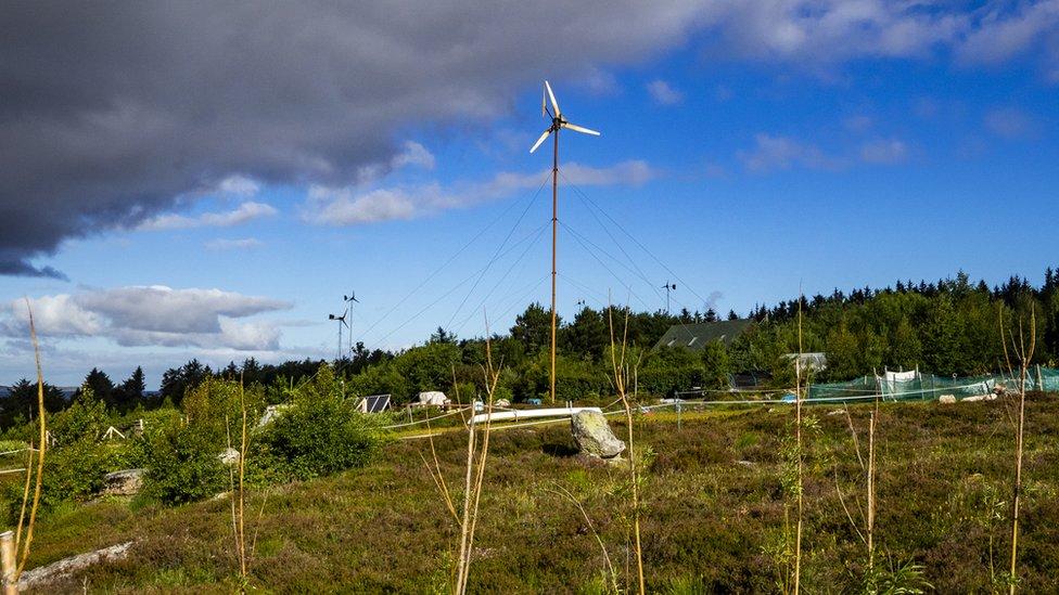 Wind generator on Scoraig