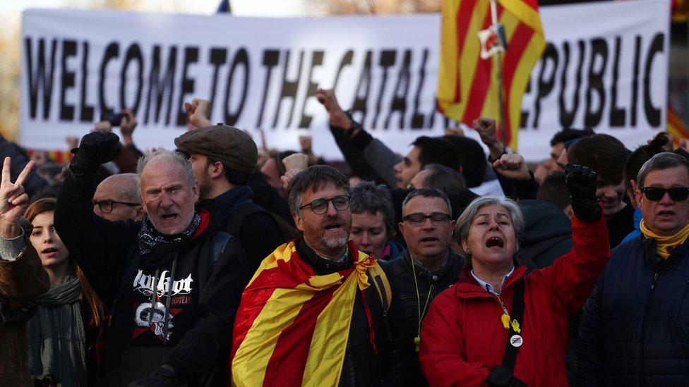 Pristalice nezavisnosti, Barselona, 21. decembar 2018.