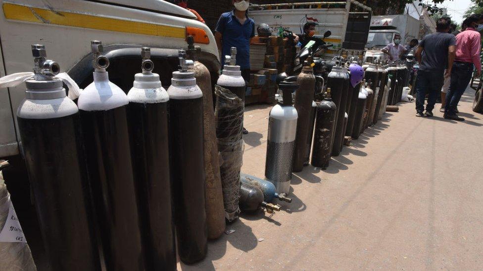 India, oksigen, covid