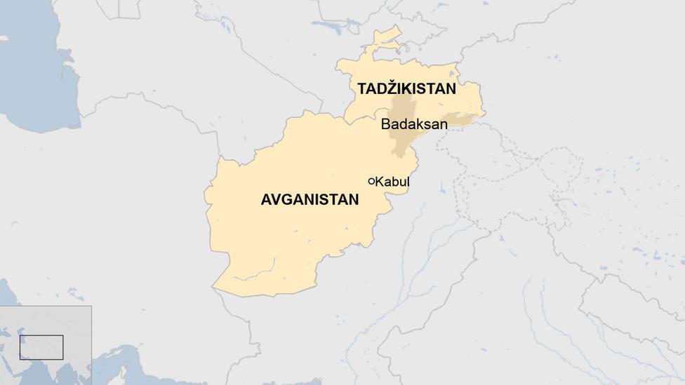 Mapa Avganistana