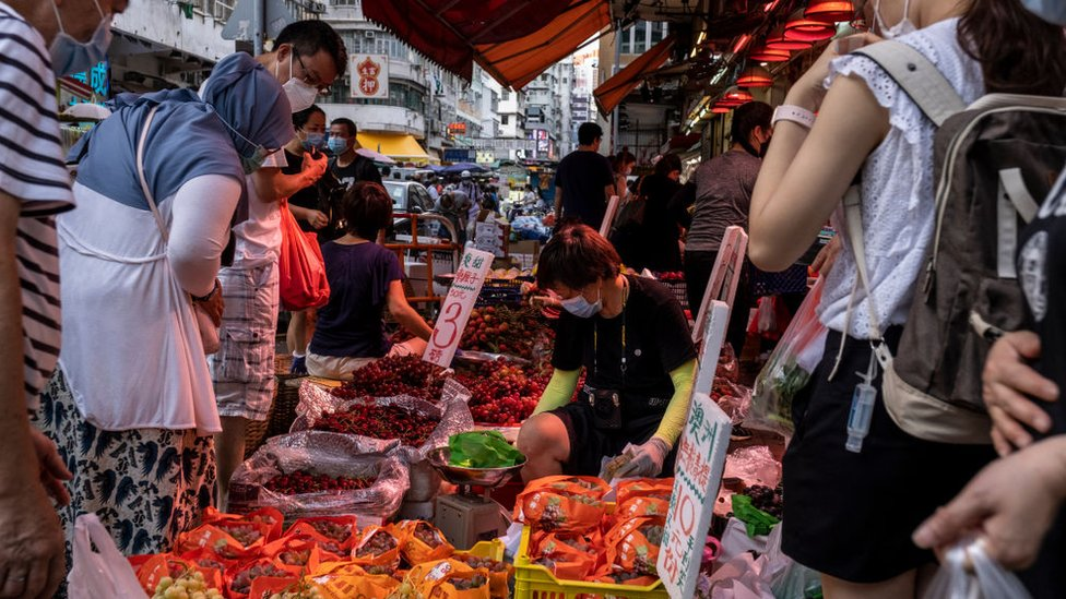 Mercado de Hong Kong.