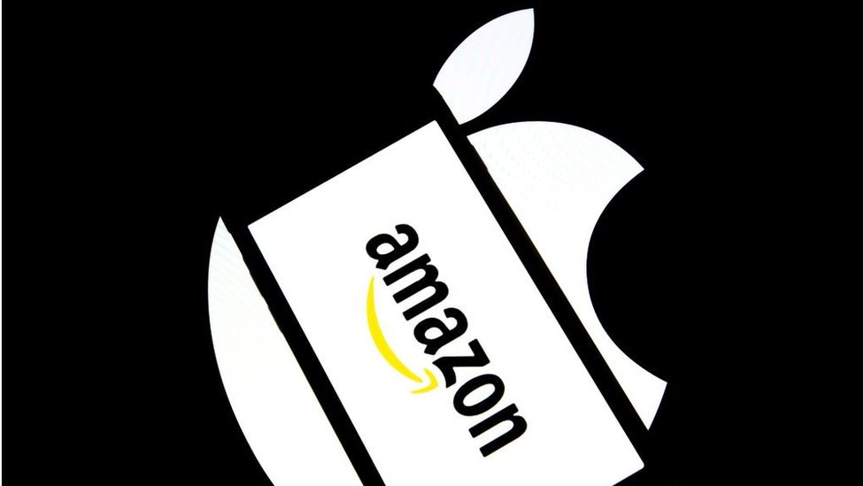 Apple and Amazon logos