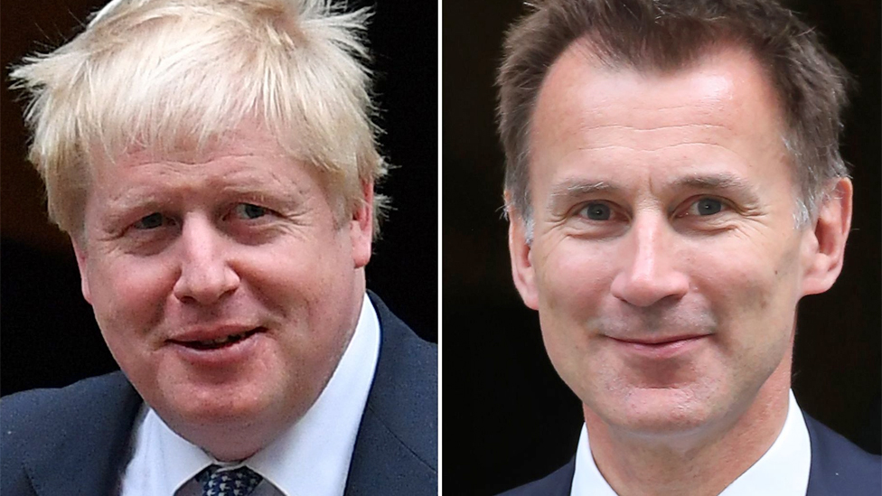 Tory leadership: Boris Johnson and Jeremy Hunt in the race