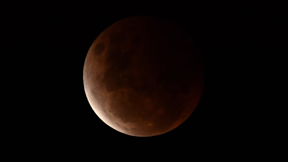 Eclipse lunar visto desde Australia