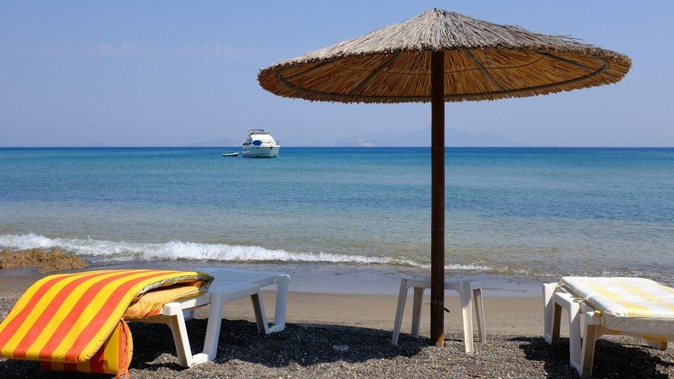 Plaža, suncobran