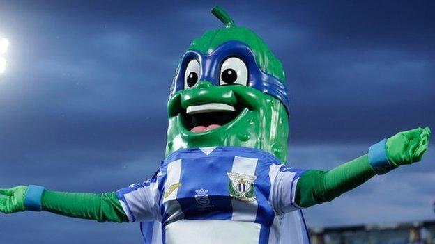 Mascota del equipo de fútbol madrileño Leganés