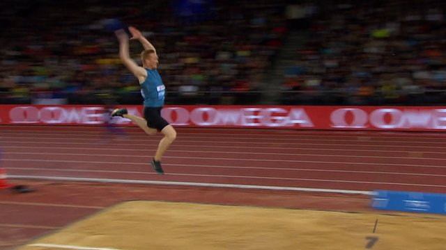 Greg Rutherford leaps to victory in the IAAF Diamond League long jump final in Zurich