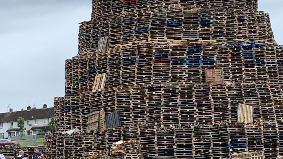 Residents at a block of flats in Portadown have been told to leave their homes on July 10 due to the risk posed from a nearby bonfire
