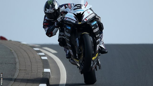 Michael Dunlop quickest in opening Superbikes practice session