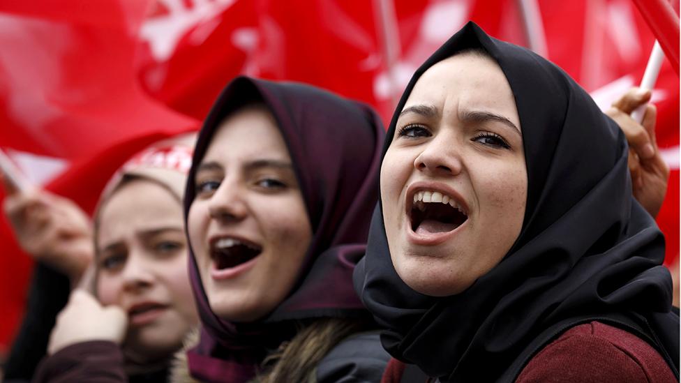 President Erdogan supporters in Rize