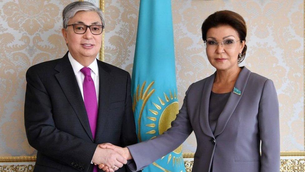 داريغا نزارباييف والرئيس الكازاخستاني الجديد قاسم جومارت