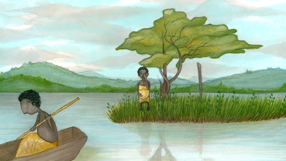 Illustration of punishment island