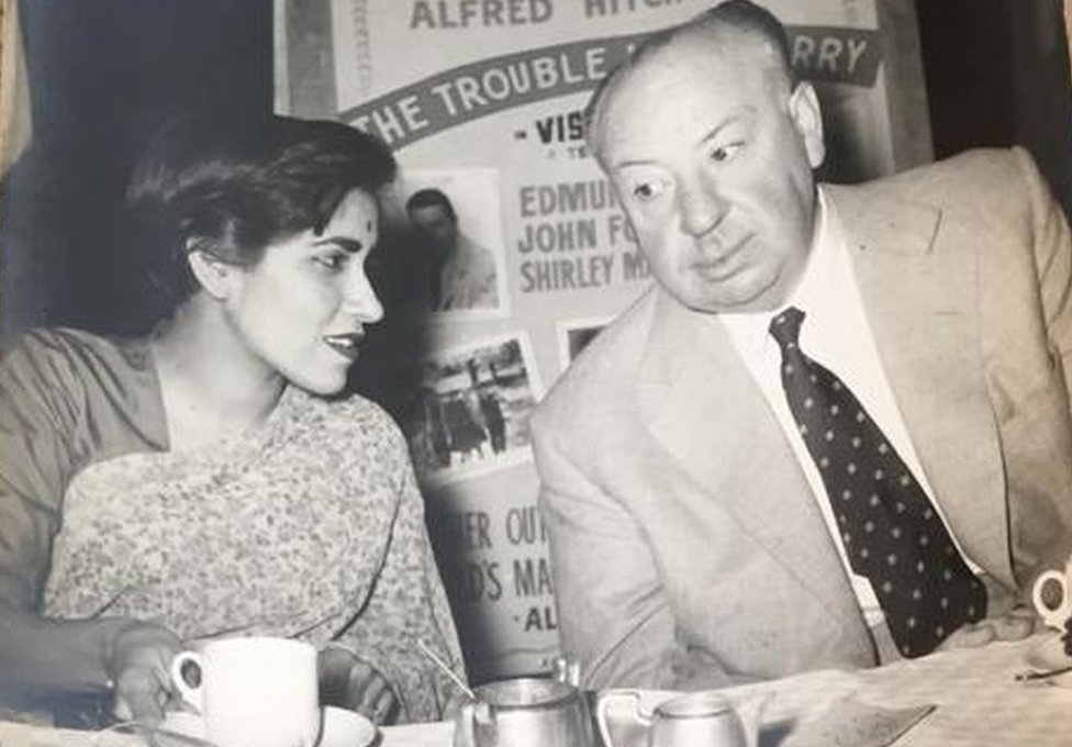 Gulshan Ewing with Alfred Hitchcock