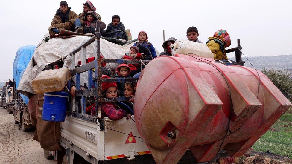 Göç eden mülteciler