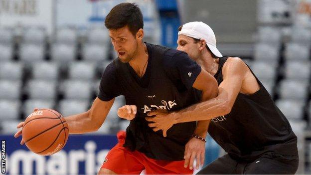Novak Djokovic y Grigor Dimitrov