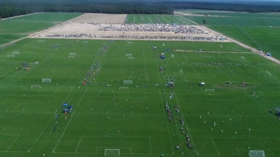 Football pitches at a tournament in New Jersey