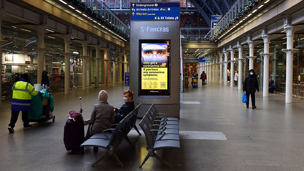 St Pancras Station in London on second day of Lockdown in England