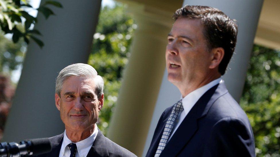 Robert Mueller and James Comey - 2013 photo
