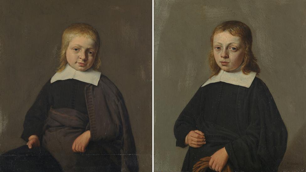 17th Century portraitts by Adriaen van Ostade