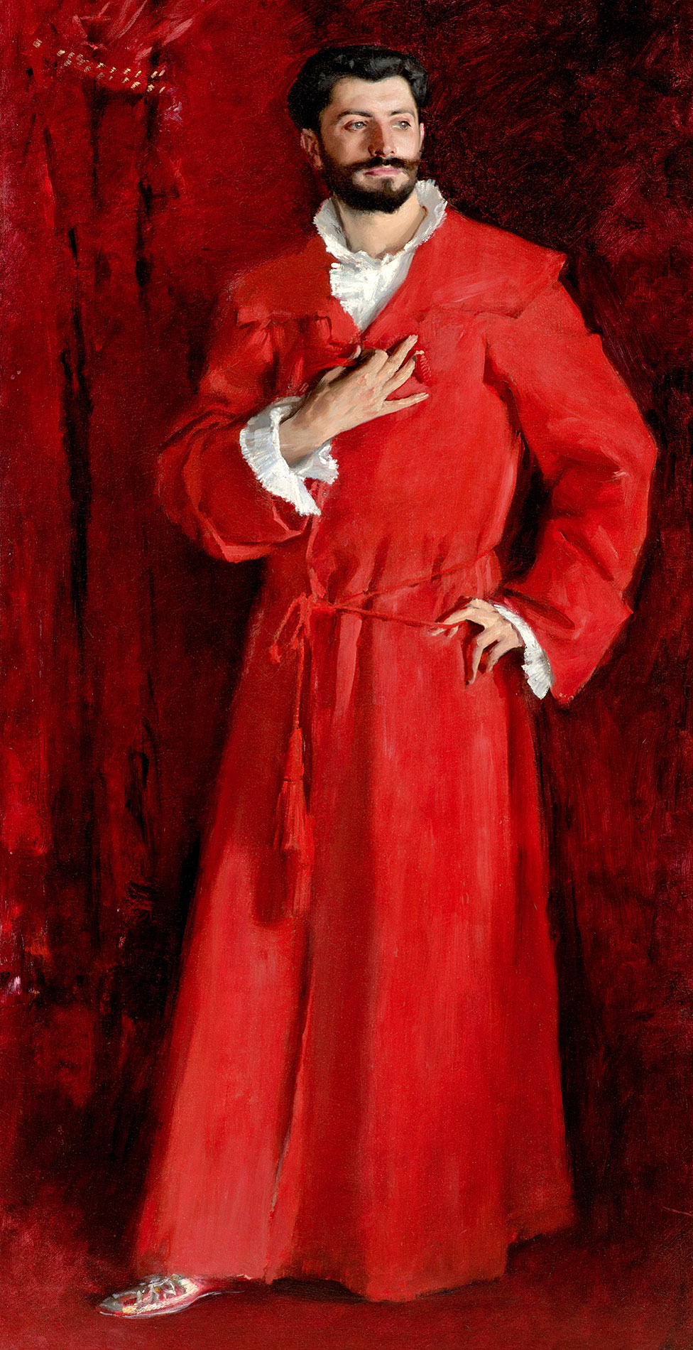 """Dr Pozzi Chez Lui (""""Doctor Pozzi en su casa"""") John Singer Sargent, 1881."""