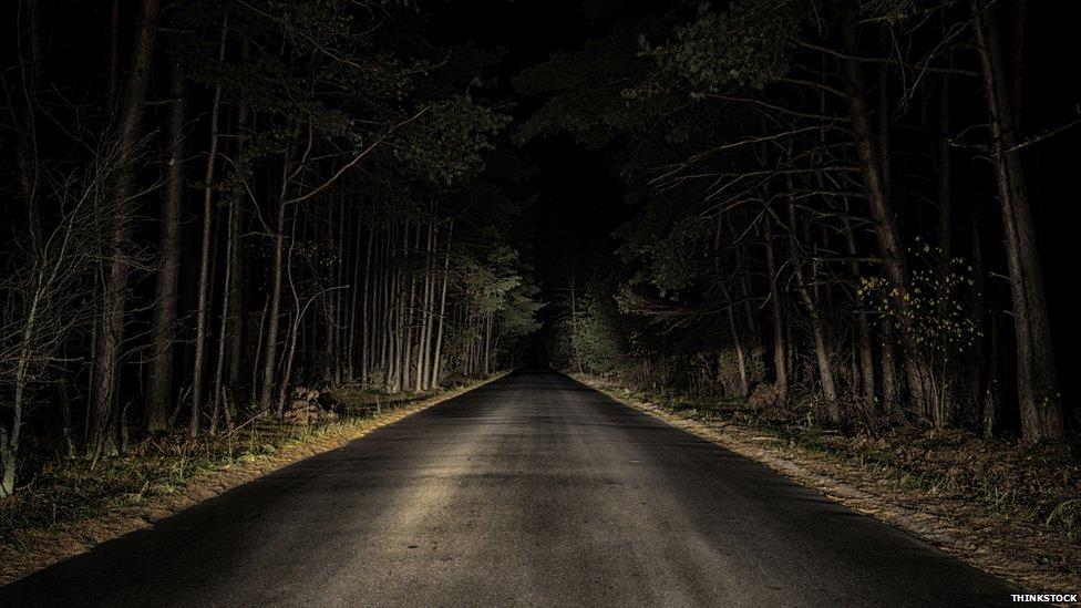 Dark country road