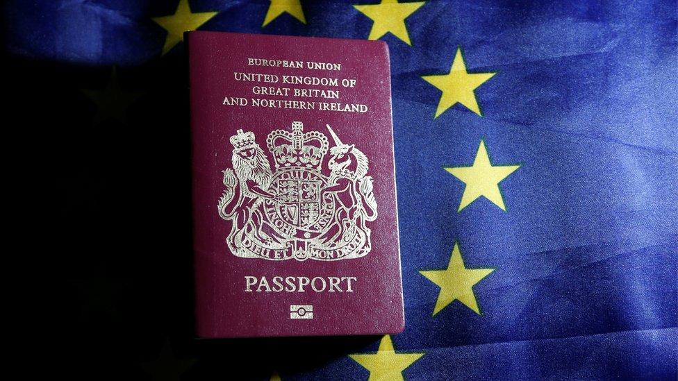 Pasoš VB ispred zastave EU