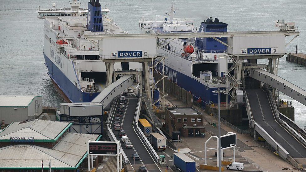 Migrants typically aim to get to the Port of Dover from Calais