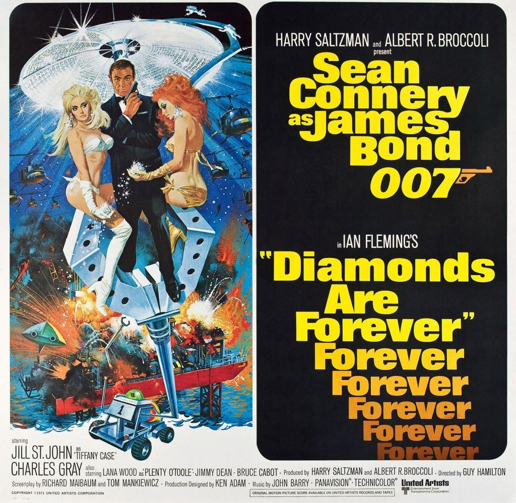 "Cartel publicitario de ""Diamonds are forever"""