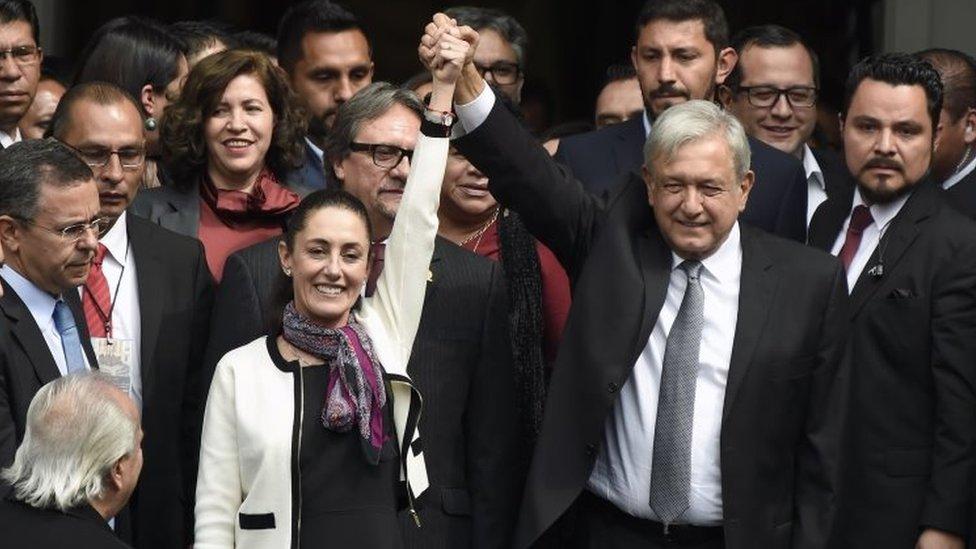Claudia Sheinbaum y Andrés Manuel López Obrador