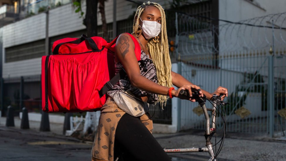 Repartidora en Brasil