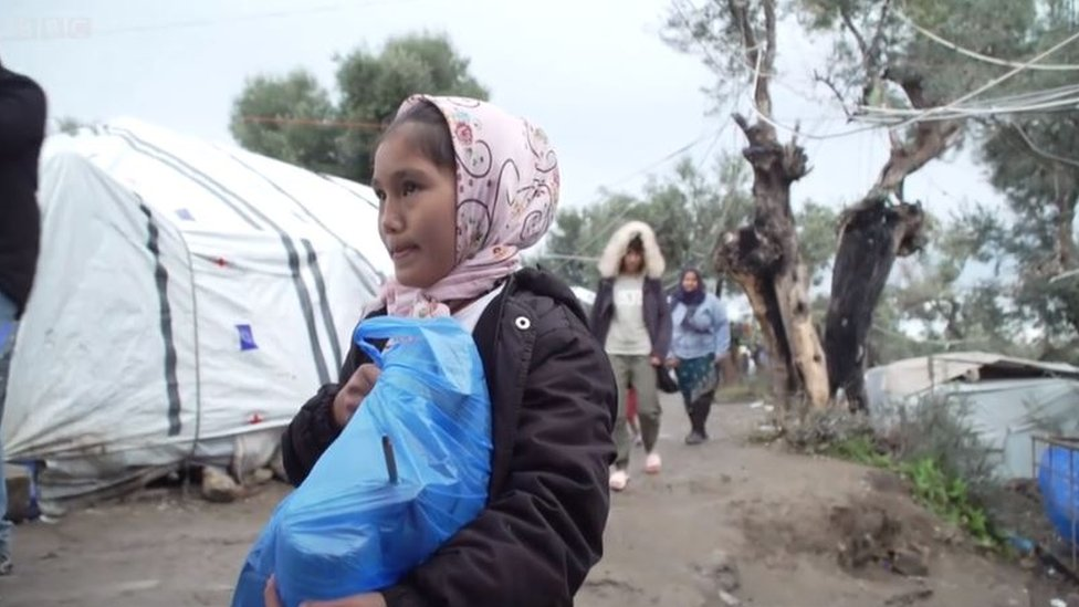 Niña refugiada.