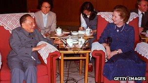 Margaret Thatcher and Deng Xiaoping, September 1982