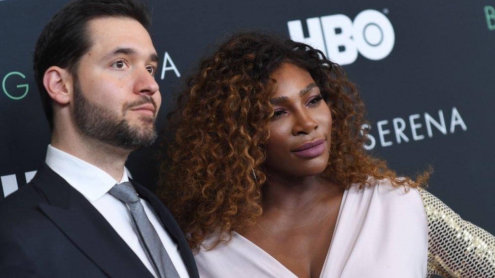 Alexis Ohanian y Serena Williams