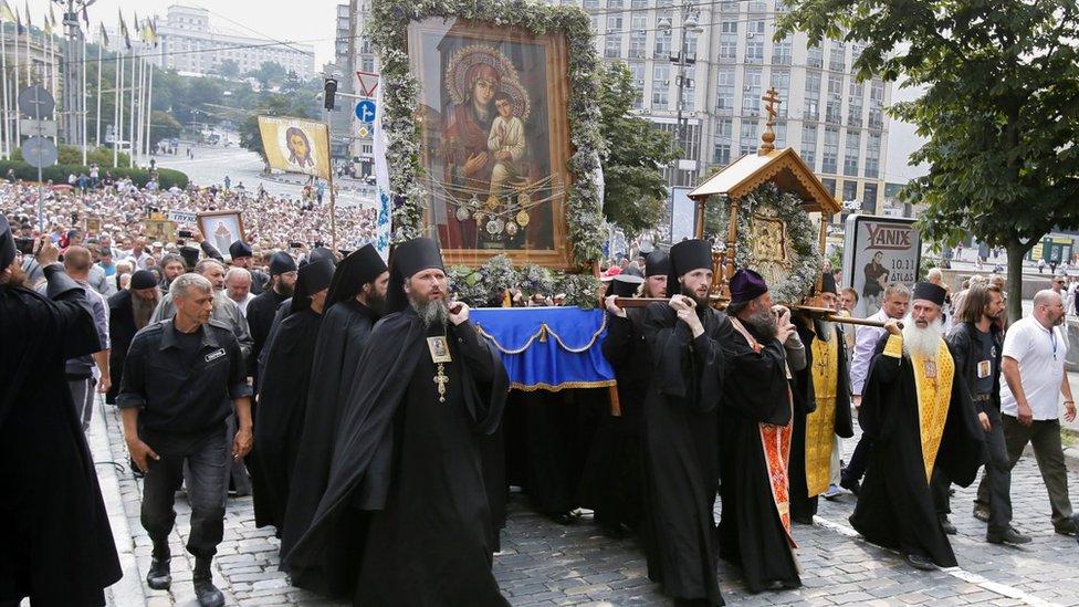 Православні МП з'їхалися до Києва на хід до річниці Хрещення Русі