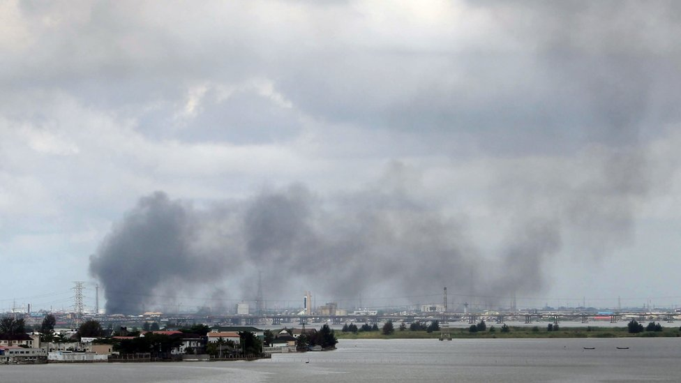 Smoke seen rising over Lagos