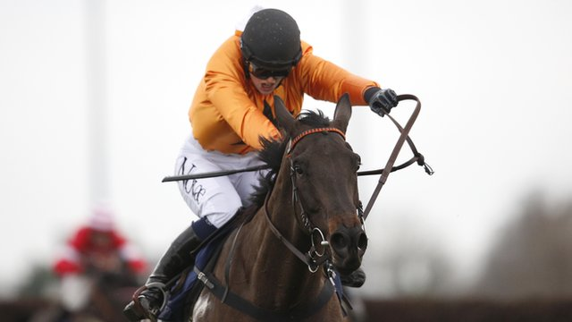 Lizzie Kelly on her way to winning the Kauto Star Novice Chase at Kempton