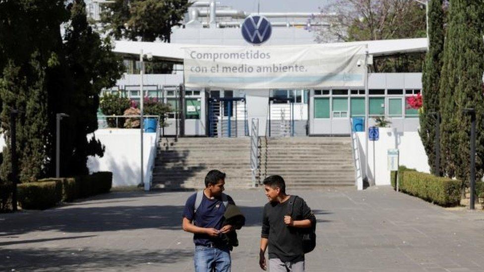Una planta de Volkswagen en México cerrada