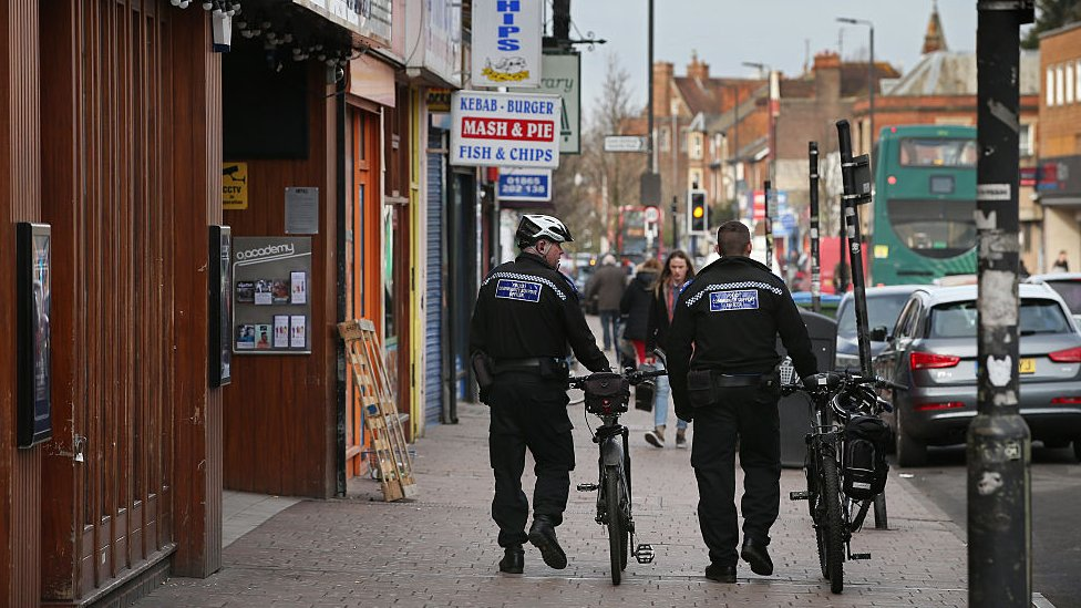 Police on patrol in Cowley Road