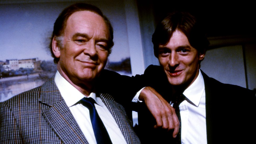 Tony Britton as Dr. Toby Latimer with Nigel Havers as Dr. Tom Latimer. Sitcom starring Tony Britton and Nigel Havers.