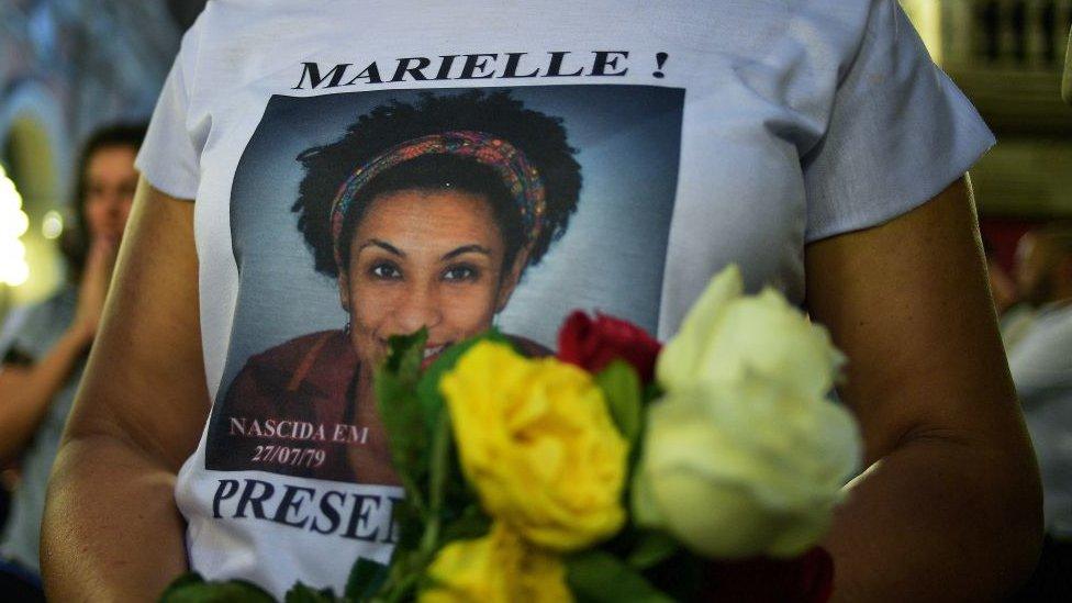 Protesta por la muerte de Marielle Franco en Brasil