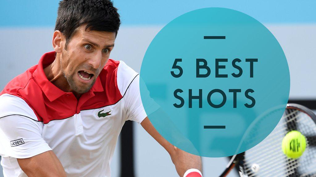 Queen's Club 2018: Novak Djokovic through to the final - five best shots
