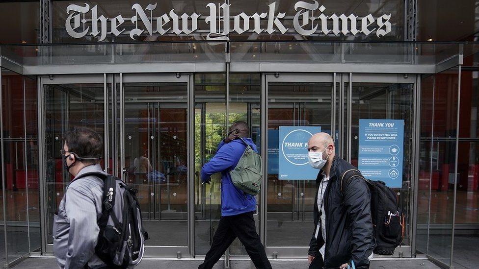 مدخل لصحيفة النيويورك تايمز
