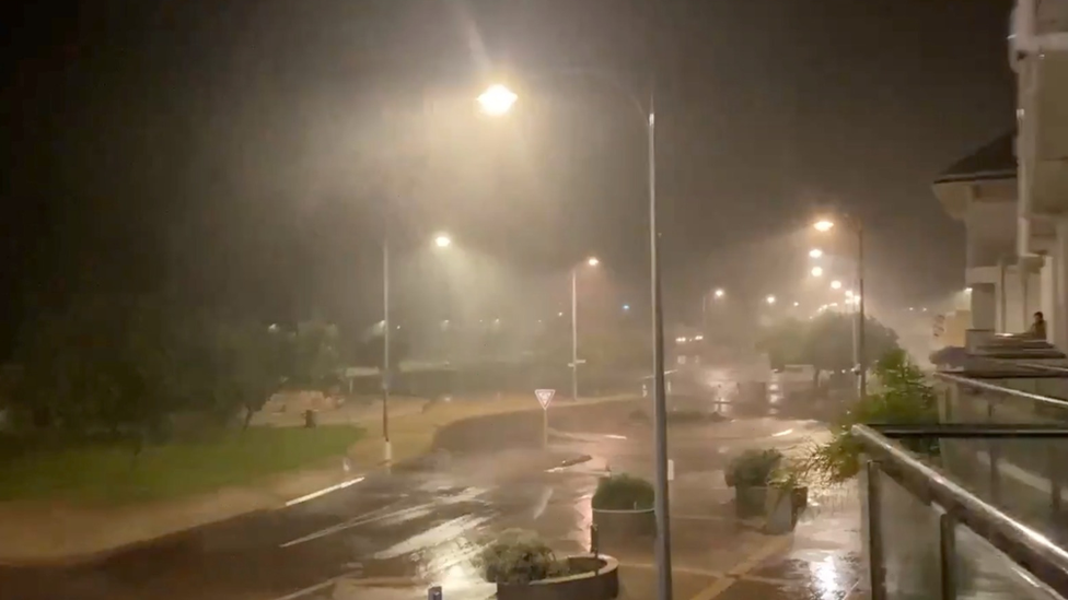 Heavy rain over Geraldton during Cyclone Seroja