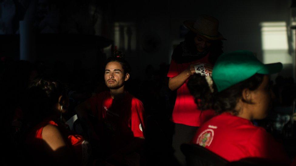 Militantes del partido de Lula