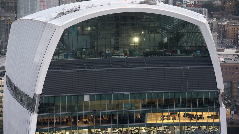 The Walkie Talkie, part of the Canary Wharf Group