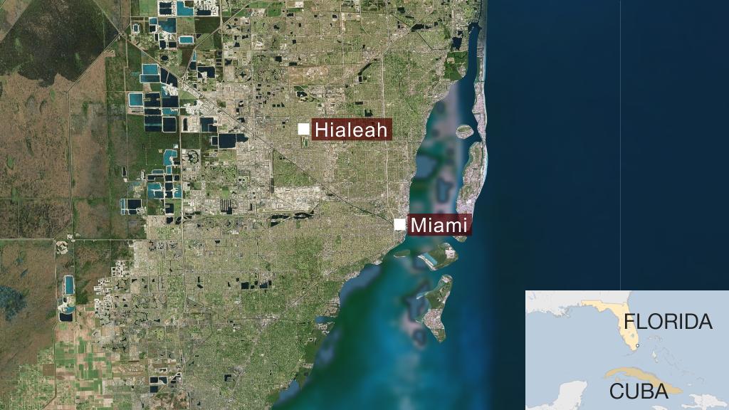Mapa Hialeah