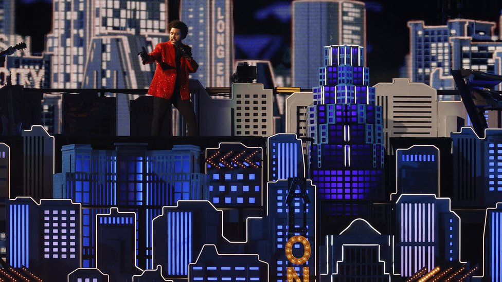 The Weeknd en el SUper Bowl