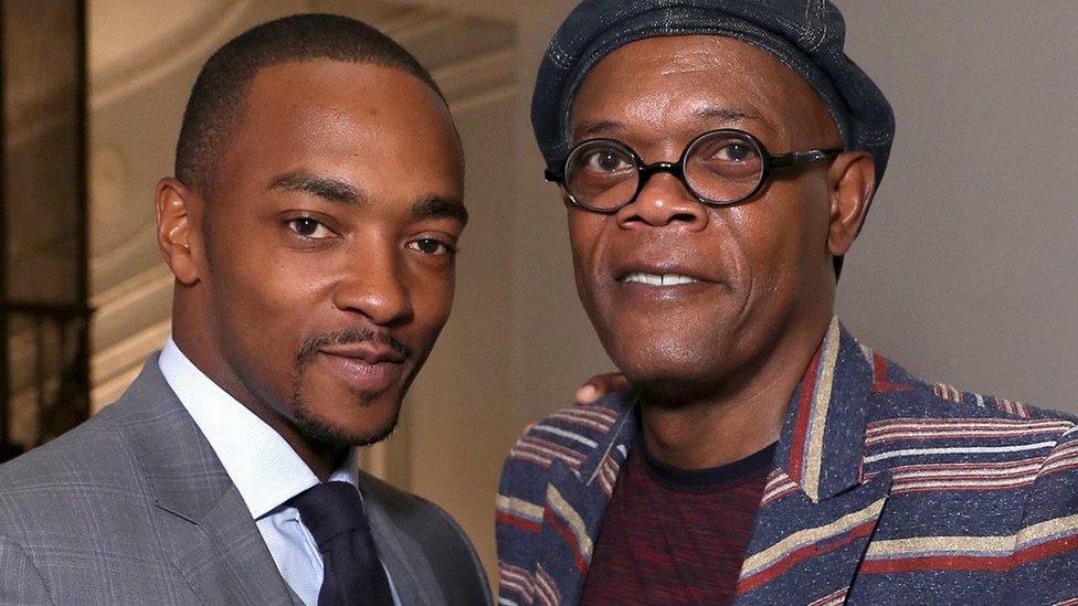 The Banker stars Anthony Mackie (left) and Samuel L Jackson