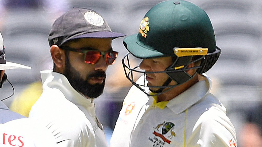 Captains Kohli and Paine clash as Australia close in on win over India