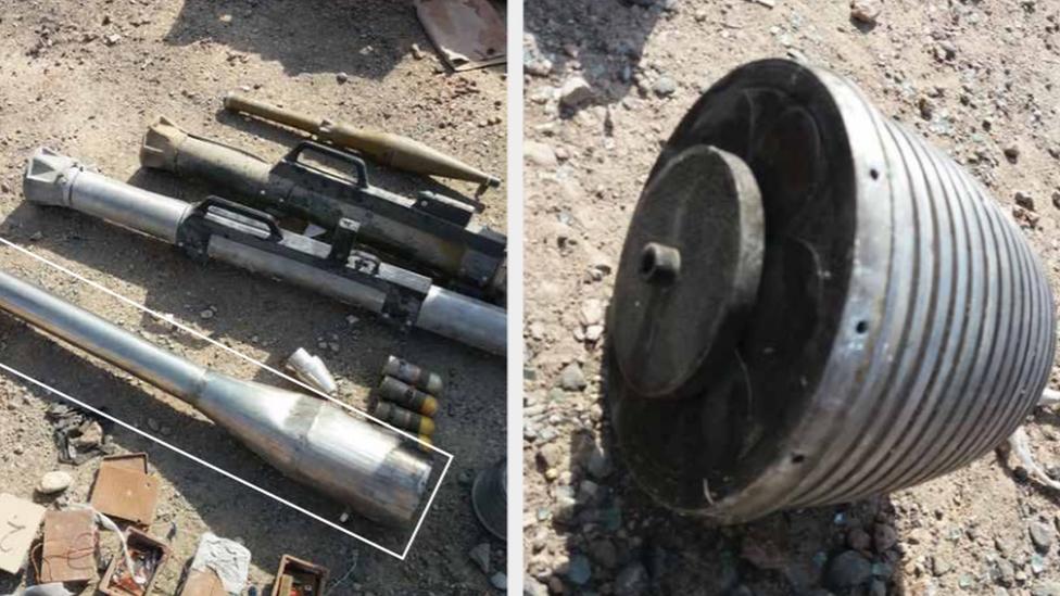 عثر على محرك النبض النفاث في مستشفى في الموصل في 2017.